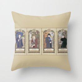 Sherlock Victorian Language of Flowers Four Seasons Throw Pillow