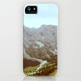 Dolomites Mountains and Valley iPhone Case