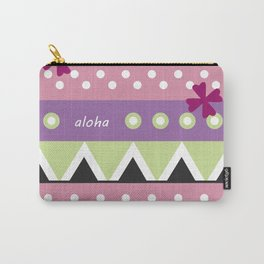 Pink Hawaiian Tapa Carry-All Pouch