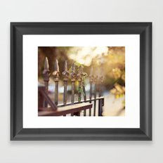 Bokeh and Fleur de Lis Framed Art Print