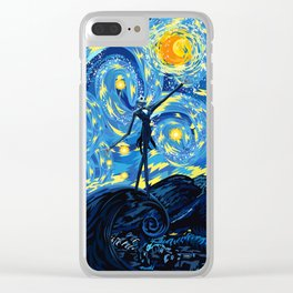 Jack Starry night iPhone 4 5 6 7 8, pillow case, mugs and tshirt Clear iPhone Case