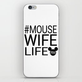 #MOUSEWIFELIFE BLACK iPhone Skin