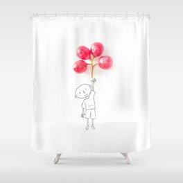 Grapes Ballons Shower Curtain