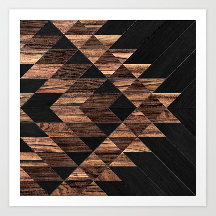 Urban Tribal Pattern No.11 - Aztec - Wood Kunstdrucke