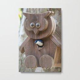 Tree Swallow in Bird House Metal Print