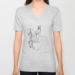 Horse (Canter Pirouette) Unisex V-Neck