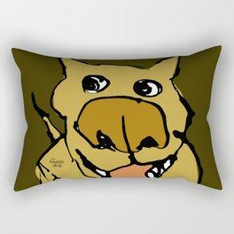 CITYDOG, rough green Rectangular Pillow