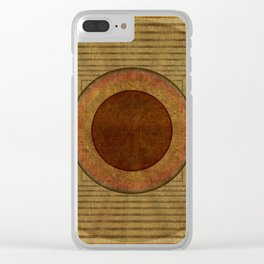 """""""Golden Circle Japanese Vintage"""" Clear iPhone Case"""