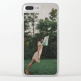 she's waiting for you Clear iPhone Case