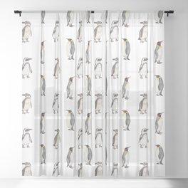 Penguin pattern Sheer Curtain