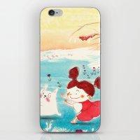 studio ghibli iPhone & iPod Skins featuring Fan-art Studio Ghibli  by Maureen Poignonec