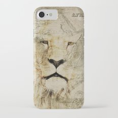 Lion Vintage Africa old Map illustration Slim Case iPhone 7