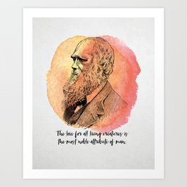 Charles Darwin - Science Portrait Art Print