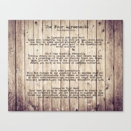 The Four Agreements 8 Canvas Print