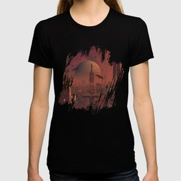 Futuristic City with Space Ships T-shirt