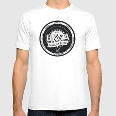 UKSA #1 Mens Fitted Tee White MEDIUM