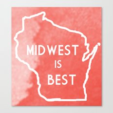 Midwest is Best in Badger Canvas Print