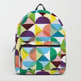Geometric Pattern 3 (colorful circles) Backpack