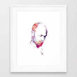 Downie Watercolour Portrait Framed Art Print