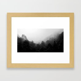 Big Sur Fog Framed Art Print