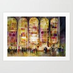 Lincoln Center, New York Art Print