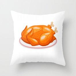 ThanksgivingMeme Turkey bon appetit French phrase Throw Pillow