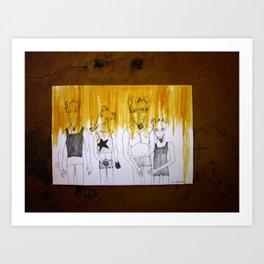RATTI AL MURO Art Print