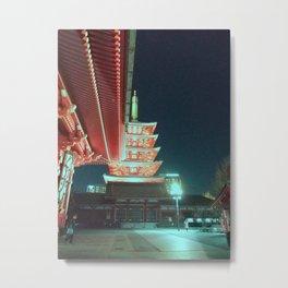 Asakusa by night 02 Metal Print