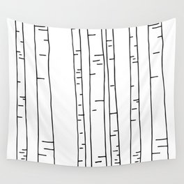 Minimal birches Wall Tapestry