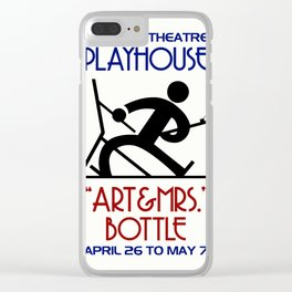 Art and Mrs Bottle retro theatre Clear iPhone Case