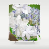 hydrangea Shower Curtains featuring Hydrangea by yumehana design fine art photography