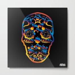 00  - COPERNICUS BLACK SKULL Metal Print