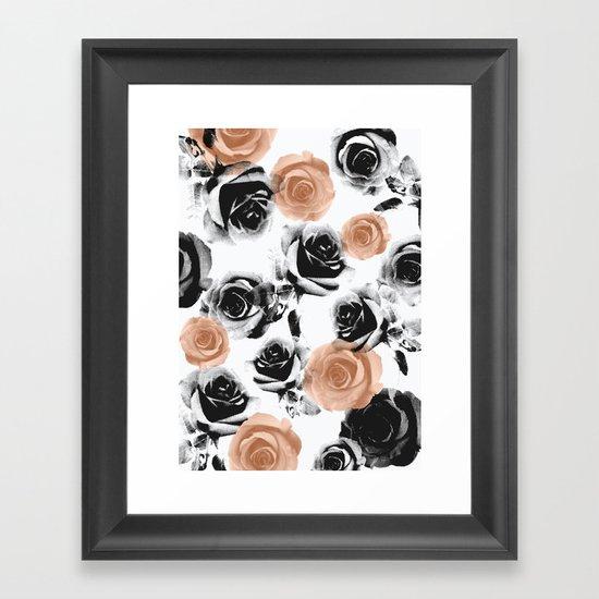pixel rose Framed Art Print