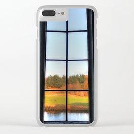 Autumn Window Clear iPhone Case