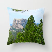 rushmore Throw Pillows featuring Mt. Rushmore by Irislynn