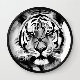 Tiger Black and white Wall Clock