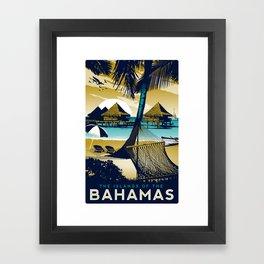 Bahamas Retro Vintage Style print Framed Art Print