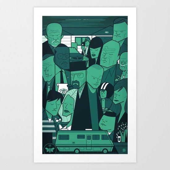 Breaking Bad (green version) Art Print