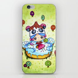 Panda Donut Girl iPhone Skin