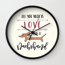 All You Need is Love and a Dachshund Wall Clock