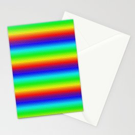Rainbow honeycomb Stationery Cards