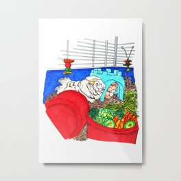 Guinea Pigs In A Cage Metal Print