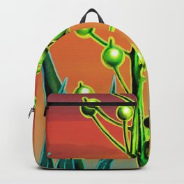 Wild plant at sunset Backpack