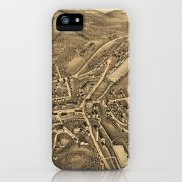 Vintage Map of Stafford Springs CT (1878) iPhone Case