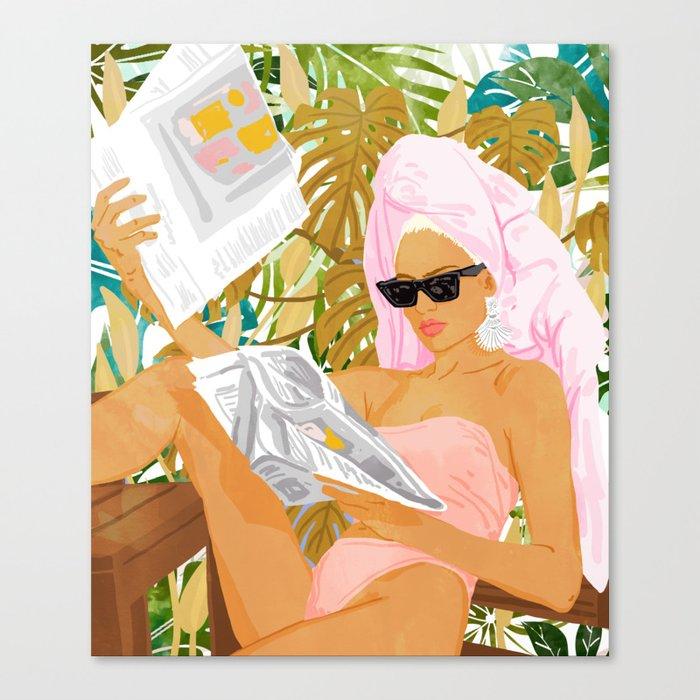 Vacay News #illustration #painting Canvas Print