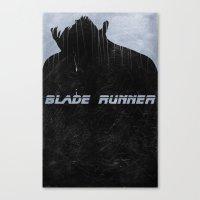 blade runner Canvas Prints featuring Blade Runner by Peter Warkentin