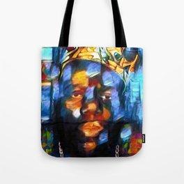 "African American 'King of New York,' Bedford–Stuyvesant ""Biggie"" Mural Portrait Tote Bag"