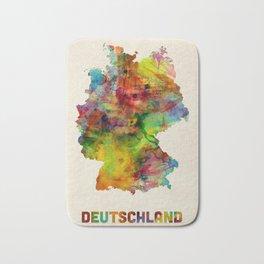 Germany Watercolor Map (Deutschland) Bath Mat