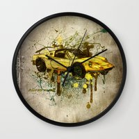 ferrari Wall Clocks featuring Ferrari by Svetlana Sewell