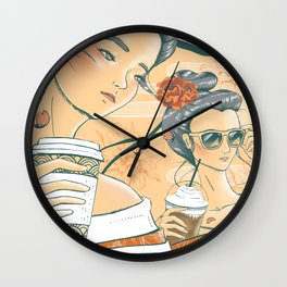 Those Who Coffee Wall Clock